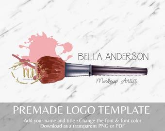 Makeup Brush Makeup Logo Template