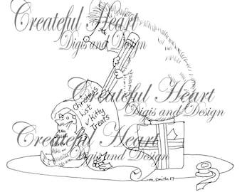 Hettie Hedgehog's Christmas List  (stamp)