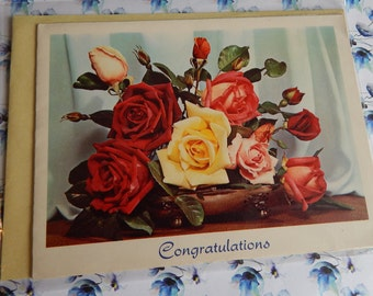 Vintage Unused 1950s or 1960s Congratulations On The Birth Of Your New Baby Card