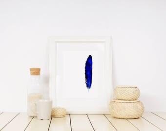 Feather Watercolour Print - A4/A5