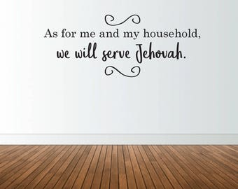 As For Me and My Household Wall Decal