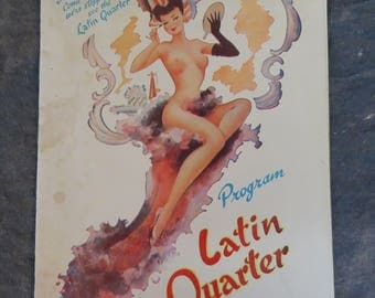 New York's Most Exciting Theatre Restaurant Latin Quarter Program Used/Vintage