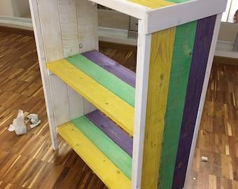 Arte povera wooden bookcase