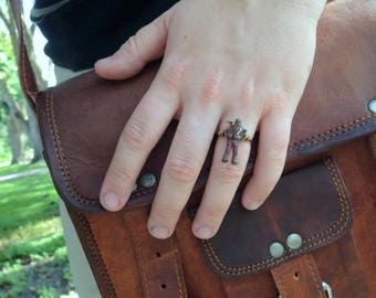 Star Wars Chewbacca Wire Wrap Ring, Star Wars Ring, Wire Wrap Ring, Star Wars Jewelry