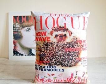 Hedgehog funny gifts, Hedgehog pillow, Hedgehog stuffed animal, Hedgehog gifts,Hedgehog plush, Mothers day gift ,Woodland plush, HOGUE
