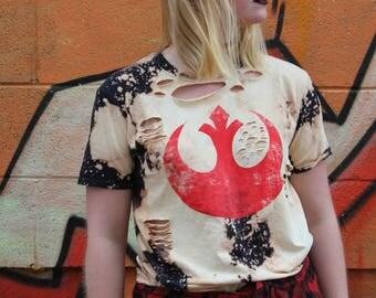 Star Wars Rebel Alliance Distressed Shirt - Medium