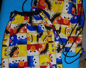 Muppet Character Drawstring Backpack