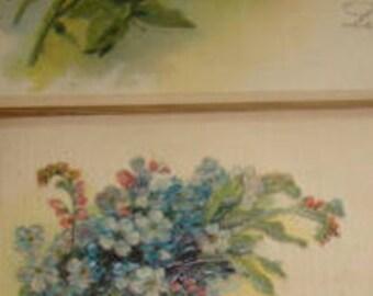 2 Nice Vintage Floral Postcards