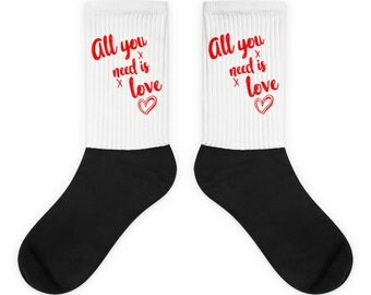 Womens All You Need Is Love Valentines Day Socks