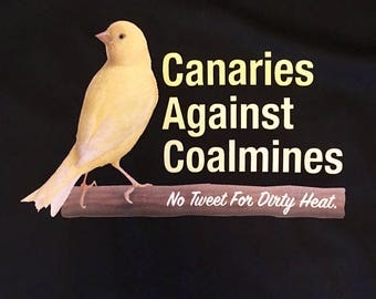 Canaries Against Coalmines Men's Tshirt