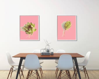 Set of 2 Succulent Prints, Dining Room Wall Decor Set, Bedroom Printable Wall Decor, Modern Bathroom Wall Decor, Housewarming Gift Printable
