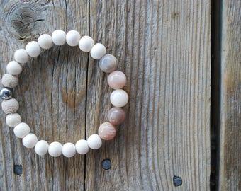 Essential oil diffuser bracelet yoga bracelet meditation bracelet yoga jewelry fertility bracelet moonstone bracelet pregnancy bracelet