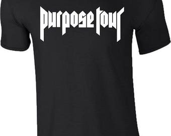 Purpose Tour Justin Bieber T Shirt World Tour 2017 Concert Birthday Gift Mens All Sizes Available