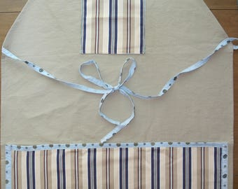 Striped Apron with Pockets