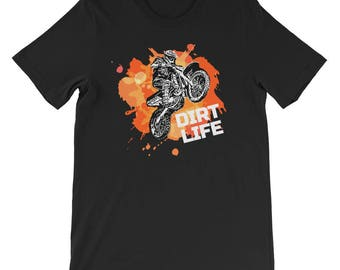 Dirt Life Motocross BMX Bike Offroad Off Road Short-Sleeve Unisex T-Shirt