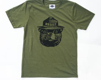 Smokey Resist - Men's T-Shirt - 100% Organic Cotton & Made in USA + Free U.S. Shipping