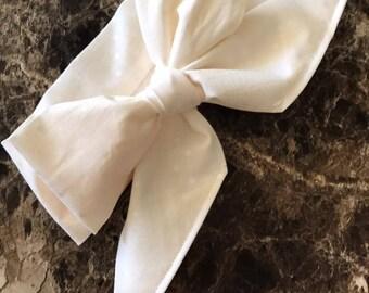 Headwrap - Ivory Polka