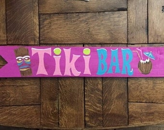 Tiki bar signs, Directional sign, Custom mileage sign, Destination signs, Beach sign, Mile marker sign, Personalized arrows, Coastal Decor