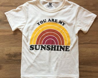 You Are My Sunshine Shirt / Toddler and Youth Shirt / Toddler Boy Clothes / Toddler Girl Clothes / Vintage Kid Clothes / Toddler Clothes