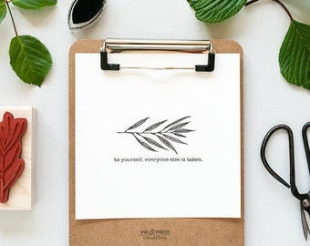 Hand drawn Willow Leaf Rubber Stamp -  Willow Leaf Stamp -  Botanical Stamp