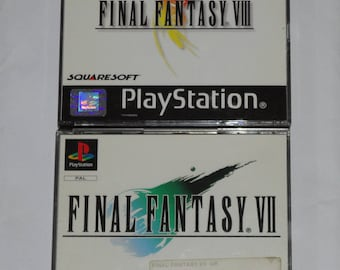 Sony PlayStation 1 PSP Vintage Final Fantasy VII 7 (1997) and VIII 8 Games. Cased with all discs and Manuals
