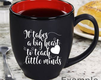 It takes a big heart to teach little minds ai  eps  jpg  png  and svg Clipart, Vinyl, Stencil - Cricut - Silhouette Cameo