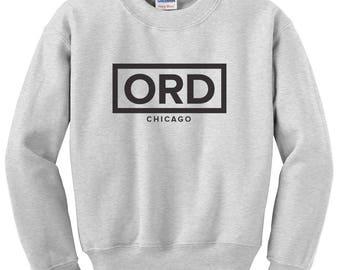 Minimalist ORD Chicago O'Hare Airport Code United States Sweatshirt