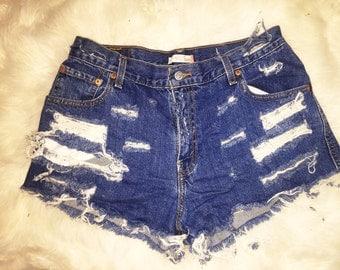 Vintage Distressed Levi Shorts