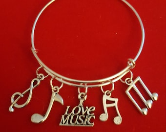 Music Lover Themed Charm Bracelet