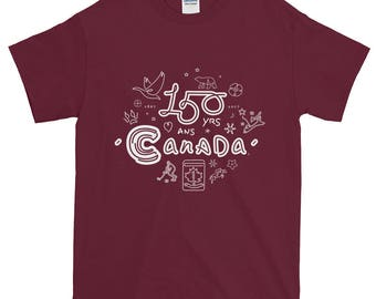 150th Year Canadiana Icons T-Shirt No.2 | Canada150 | Illustration Art Gift Tee