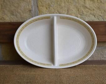 Franciscan Hacienda Gold Divided Dish, Ceramic Dish