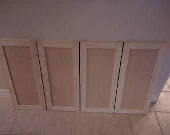 Four Surplus Shaker Style Cabinet Doors