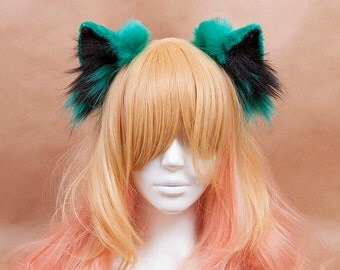 Green Cat Ears Headband
