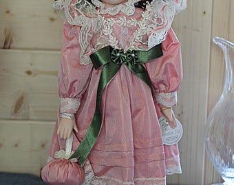 "Beautiful vintage LEONARDO Collection porcelain doll 16"" ELIZABETH"