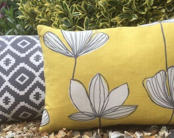 Two Ugly Sisters - Floral cushion complete with feather pad
