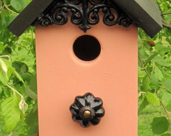 Handmade Birdhouse, Bird house, Gift or Home,Apricot