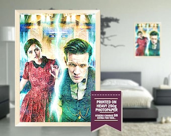 Doctor Who print, fan art, doctor who poster, GIFT, impressionist design, doctor who, cool posters, doctor who print, great gift ideas