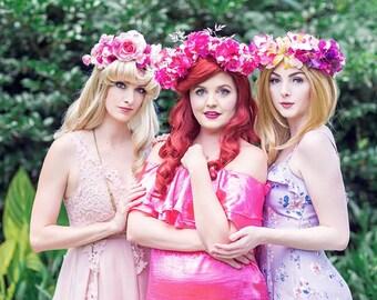 Disney Princess Ariel Pink Flower Crown