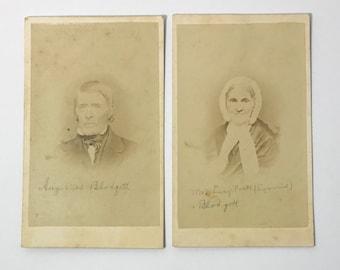 1800's | Husband and Wife Portraits | sepia tone