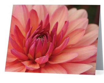 Beautiful, Artistic Stationery - Elegant Purple Dahlia
