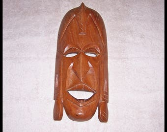 Tribal Mask Hand Carved Made In Kenya Wood Wall Decore African