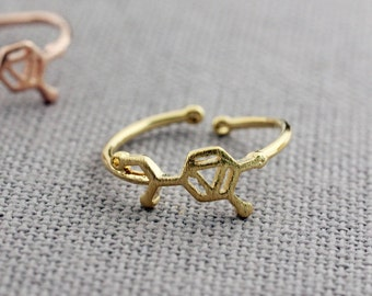 Adrenaline molecule stacking Ring, Adrenaline ring, Chemistry Compound Ring, chemistry jewelry