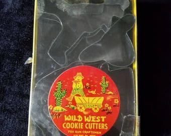 1970's Fox Run Cratfsmen Wild West Cookie Cutters