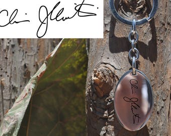 Handwriting, Custom, Stainless steel, Dog Tag, Engraved, Personalized, Handwritten, Necklace, Keychain, Engrave, Engraving