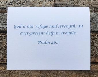 Psalm 46:1 Bible Verse Note Card