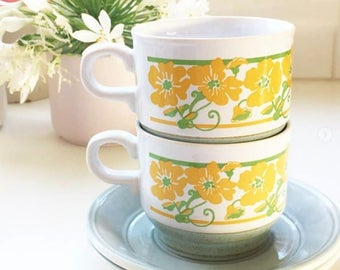 KilnCraft coffee cup + saucer set of 2