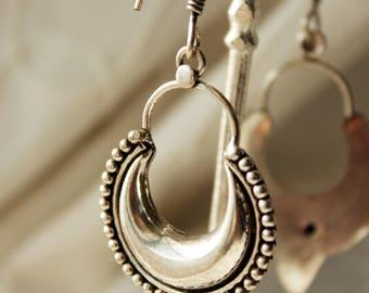 Tribal earrings Ethnic earrings boho earrings bohemian earrings ethnic jewelry tribal jewelry hippie earrings jewelry Festival earrings moon