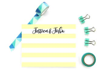 Personalized Couple Stationary, Monogram FLAT Note Cards, Personalized Stationery Couple, Personalized Couple Note Cards, SET of 10 Cards