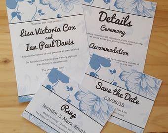 Invitation & Save the Date, Vintage Wedding Stationery