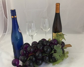 Mid century over sized Lucite grapes -purple grapes -Free Shipping